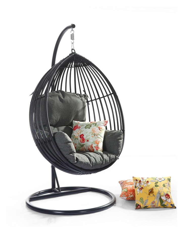 3d75140c8b6 Κρεμαστή κούνια Relax Wicker Eggor Black