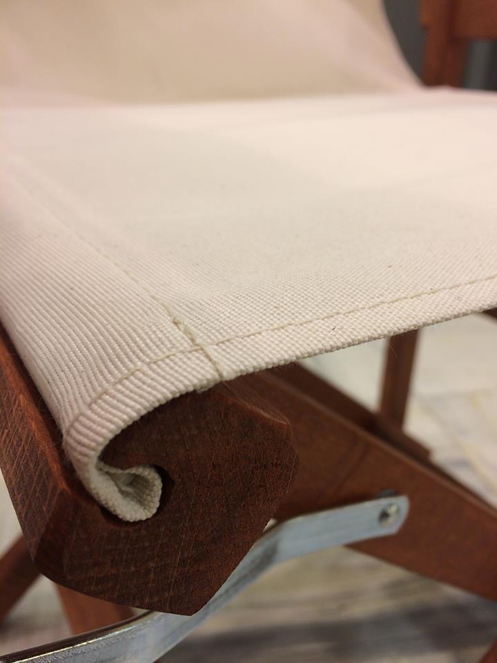 Πανιά για καρέκλες σκηνοθέτη με διαφορά στη λεπτομέρεια