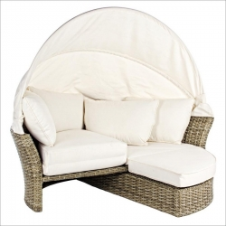 Rattan Daybed Set 2τμχ Lesly Grey