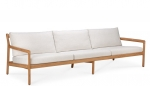 Teak Jack outdoor sofa off white 265X90cm