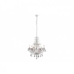 Light Fitting 6Lights Talcy Acr White