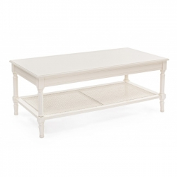 Amabel Coffee Table λευκό 120x60x48cm