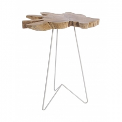 Savanna White High Coffee Table 40x40x70cm