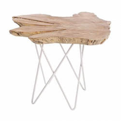 Savanna White Coffee Table 50x50x50cm