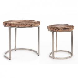 Rafter High Coffee Table Σετ 2τμχ  Φ36x43|Φ52x51cm