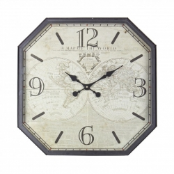 Mappemonde Coffee Table W-Clock 60X60