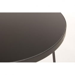 Μεταλλικό Zaira Black Coffee Table D50x55cm