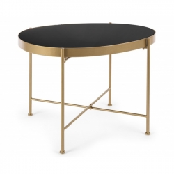 Μεταλλικό Rashida Gold Coffee Table 63x46x45cm