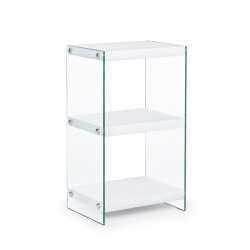 Line 3 Shelves White Bookcase