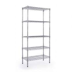 Bookcase 5Shelves Chrome 2466