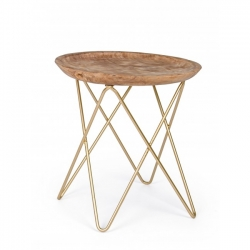 Zahira Gold Coffee Table Φ50