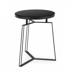 Μεταλλικό Zaira Black Coffee Table D40x50cm