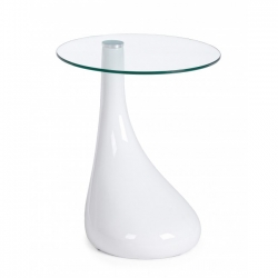 Jaques White Glass Coffee Table 45x45x55cm