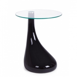 Jaques Black Glass Coffee Table 45x45x55cm