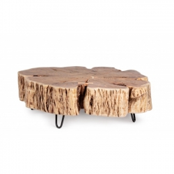 Eneas Tree Coffee Table ακακία 90x90x30cm