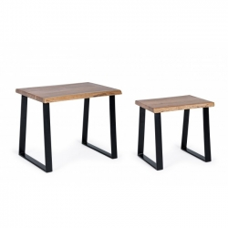 Coffee table 2 τμχ Artur 41x35x40, 55x40x46