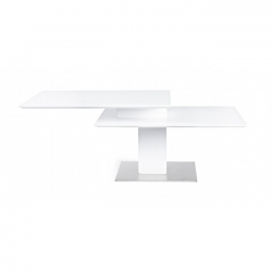Liam White Coffee Table 80/120x60x43cm