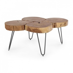 Orbital Log Coffee Table 90x60x40cm