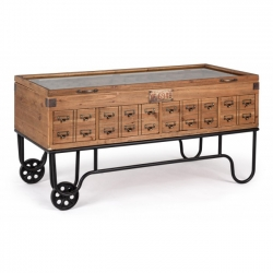 Kompart Exhibiting Coffee Table W-Wheels 120x58.5x60cm