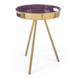 Μεταλλικό Inesh Purple Coffee Table Φ42x50cm