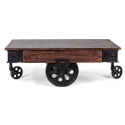 Track Coffee Table W-Wheels 120x65x45cm