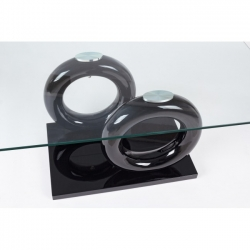 Julien Black Glass Coffee Table 110x60x45cm