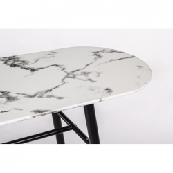 Marble Oval Console 135X40