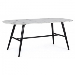 Marble Oval Coffee Table 110X50