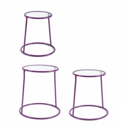Magia Violet Steel-Glass Coffee Tab