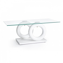 Julien White Glass Coffee Table 110x60x45cm