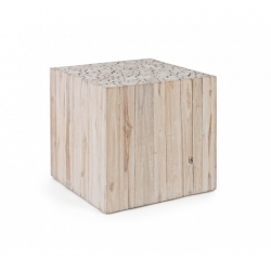 Ermitas  Coffee Table  λευκό  45.5X45.5cm