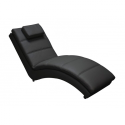 Yvonne Black Chaise Longue 172x 62x85cm