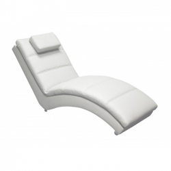 Yvonne White Chaise Longue 172x 62x85cm