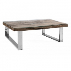 Stanton Cofee Table W-Glass 100x100x40cm