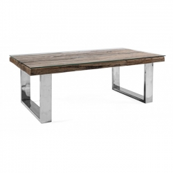 Stanton Cofee Table W-Glass 110x60x40cm