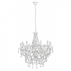 Beads White Chandelier 12Lights