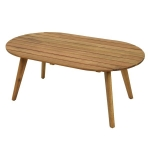 Ξύλινο Coffee Table Teak look finish 97Χ57Χ47εκ