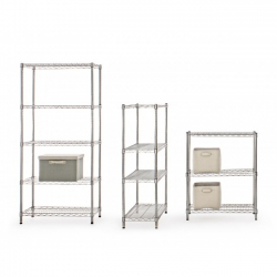 Bookcase 4Shelves Chrome 2464