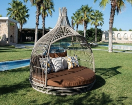 Σαλονι - Daybed wicker Φ1.77 Χ 2.14m  Cottage