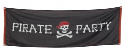 Αποκριάτικο Banner `Pirate party` 220x74cm