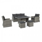 Σαλόνι Wicker 6pcs Ariel Grey