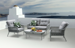 Σαλόνι 4pcs Deluxe Rope Design Norfolk Grey II