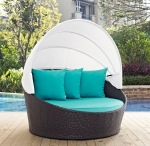 Σαλόνι Daybed Wicker Rosalia Turquise Brown