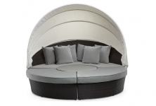 Σαλόνι Daybed Wicker Rosalia Dark Grey
