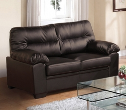 Imperial Καναπές 2-Θ Bonded Leather/Pu Σκ.Καφέ