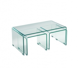 Glasser Clear Τραπ.Σαλ.(+2 Βοηθ) Γυαλί 12Mm 90X50X38Cm