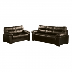 Imperial Set Καναπέδες (3Θέσ+2Θέσ) Bonded Leather/Pu Σκ.Καφέ