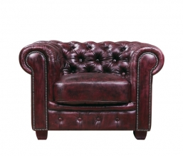 Chesterfield 689 Πολυθρόνα Δέρμα Antique Red 103X92X72Cm
