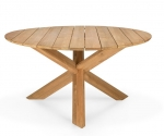 Teak Circle outdoor dining table 136cm