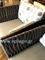 Σαλόνι wicker 4τμχ Darwin Set Brown